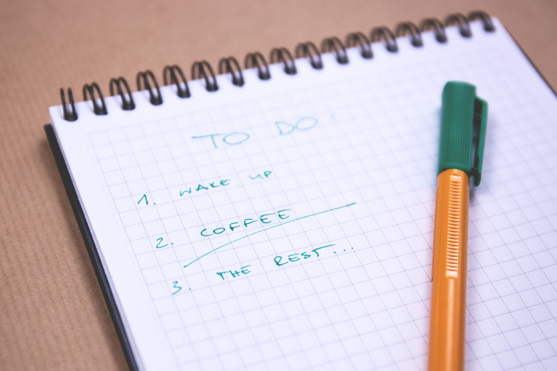 A to-do list.
