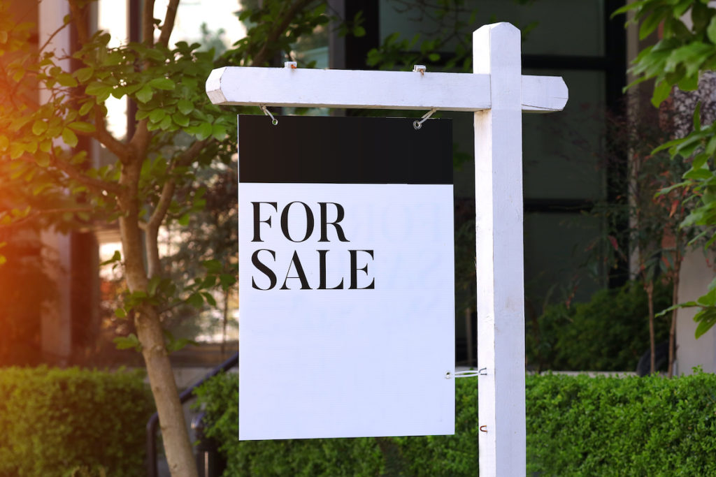 Modern for sale sign